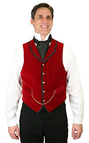 Historical Emporium Men's Bonaventure Velvet Dress Vest L