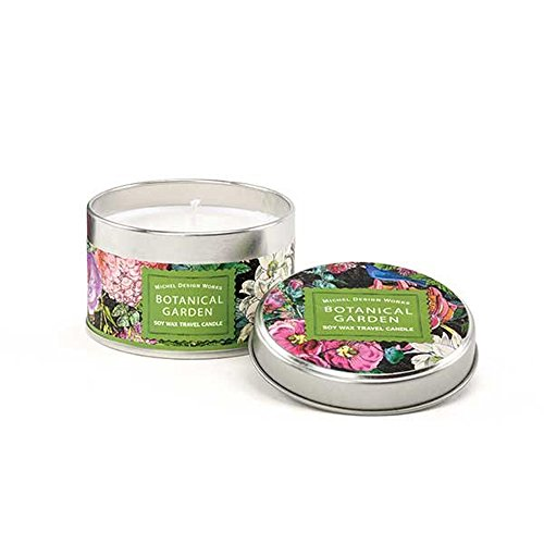(Michel Design Works Soy Wax Candle, Travel Tin Size, Botanical Garden)