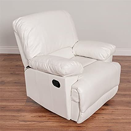 Wondrous Amazon Com Atlin Designs Leather Reclining Chair In White Onthecornerstone Fun Painted Chair Ideas Images Onthecornerstoneorg