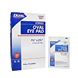 Dukal Oval Eye Pads 1 5/8 x 2 5/8. Pack of 50