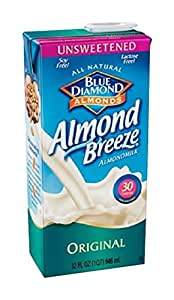 Blue Diamond Almond Breeze Original - Unsweetened - 6 x 946ml