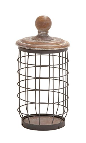 Decor Jar (Deco 79 55313 Metal Wood Wire Jar, 7