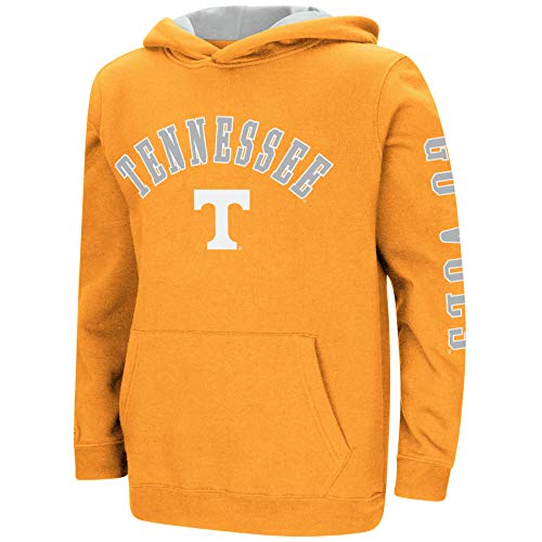 Colosseum NCAA Youth Boys-Crunch Time-Hoody Pullover-Tennessee Vols-Orange-Youth XL
