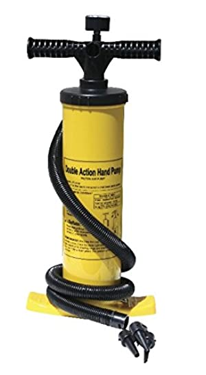 Advanced Elements AE2011 Double Action Hand Pump with Pressure Gauge, Unisex Adulto, Yellow