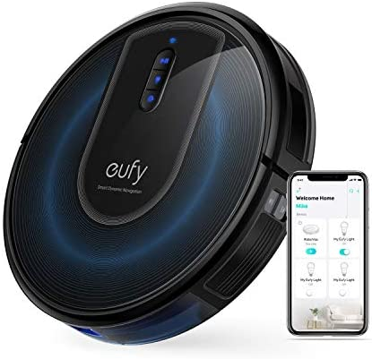 eufy through Anker, RoboVac G30, Robot Vacuum with Smart Dynamic Navigation 2.0, 2000Pa Strong Suction, Wi-Fi, Works with Alexa, Carpets and Hard Floors
