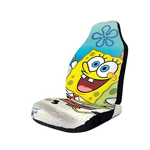Car Seat Cover Front Seats - Cute Sponge-Bob Printed Car Seat Covers 1/2 Pcs, Car Seat Covers Fit Most Car, Truck, SUV or Van