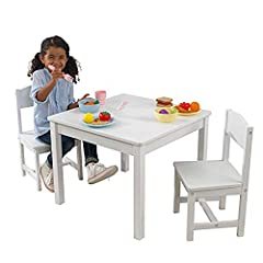 As darling in the dining room as in your child's bedroom, this Aspen table and chair set offers little ones a place to sit that's just their size. It'll soon become the favorite place for doing art projects, having snacks and more. Set includ...