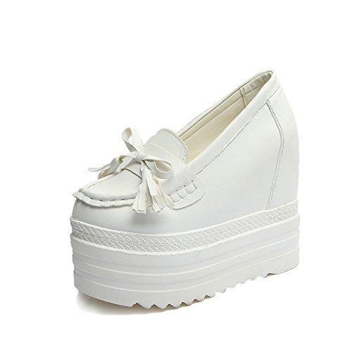 De Asakuchi Bow Shoes Gruesas Muffin Suelas Low De Tacones Fashion KPHY Shoes white Ultra Zapato De Aumento tqZfp