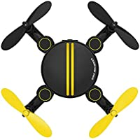 Owill Foldable Camera Drone RC Mini Wifi Quadcopter Altitude Hold 2.4 4CH 6-Axis Gyro 3D UFO FPV Helicopter (Black)