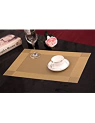 washable table matsnon slip and heat insulated placemats set of 4 gold. beautiful ideas. Home Design Ideas