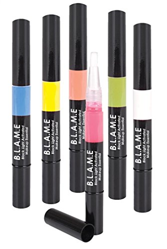 Mehron BLAME Black Light Activé 6 Couleur Pen Set