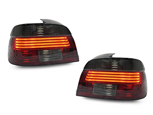 CPW (TM) Red Smoke Lightbar LED Replacement Tail Lights New Pair FOR 2001-2003 BMW E39 5 Series 530I 525I 540I M5