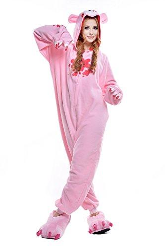 NEWCOSPLAY Halloween Unisex Adult Pajamas Costume Cosplay (M, Pink Gloomy -