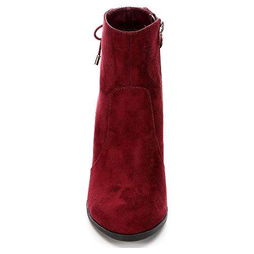 Heel Ankle High Womens Limelight Burgundy Shoes Bootie Celeste qnPtnzwxa