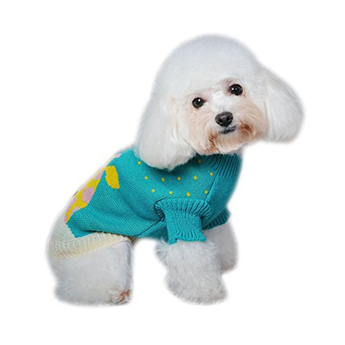 Dorapocket Pet Animal Jacquard Sweater Forest Fairy Tale Small Dog Cat Warm Clothes Coat Puppy Kitten Wool Shirt Jersey Christmas Day Eve Party Outfit,Giraffe S by Dorapocket (Image #3)