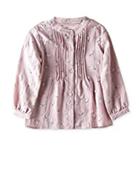 VYU Long Sleeve Girls Floral Print Shirt Kids Knit top Age 3-8 Blue/Pink