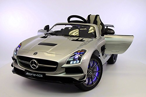 amazoncom mercedes benz sls amg 12v kids ride on car mp3mp4 color lcd battery powered wheels rc parental remote 5 point safety harness limited