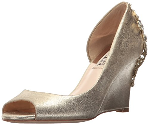 Badgley Mischka Womens Meagan Ii Pump Platino