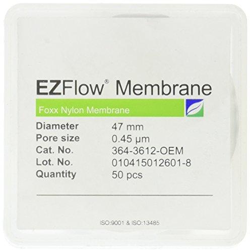 Nylon Membrane Filter (EZFlow Nylon Hydrophilic Membrane Filters, 0.45um, 47mm Diameter Filter Discs, 50/PK)