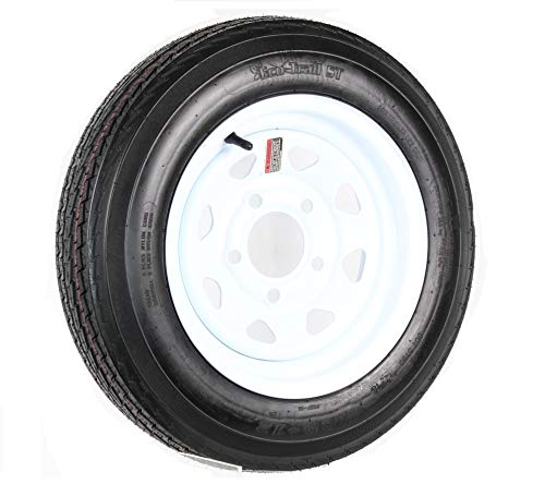 Tredit RIM & TIRE ASSEMBLY, SPOKED WHEEL, WHITE-480 X 12; 5-Hole Spoked Rim; Load Range B