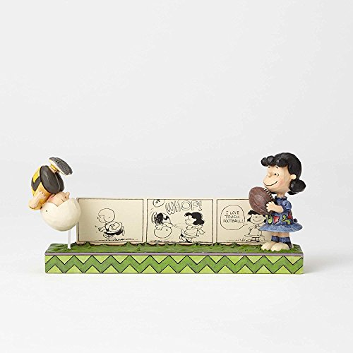 Charlie Brown And Lucy Football - Peanuts by Jim Shore Charlie Brown & Lucy Comic Strip Figurine