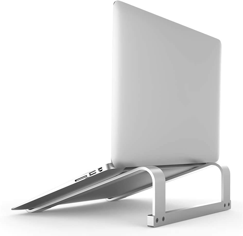 Mr. Eleven Laptop Stand, Ergonomic Computer Stand Laptop Riser Notebook Holder Compatible for Apple MacBook Air/Pro, Microsoft Surface, Chromebook, Razer, Dell, HP, Lenovo, ASUS, Acer, MSI, LG(Silver)