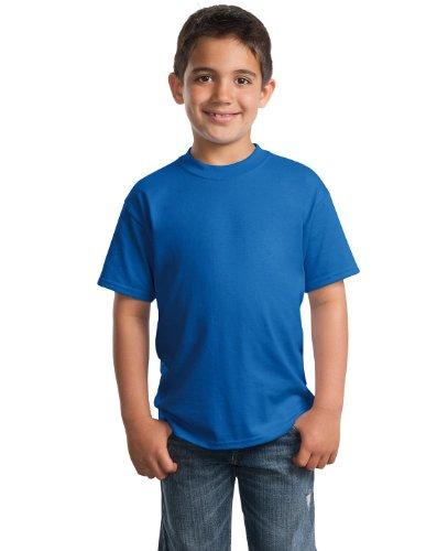 Port & Company PC55Y Youth 50/50 Cotton/Poly T-Shirt - Royal - L