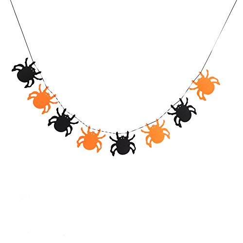(Halloween Banner Bunting,Happy Halloween Hanging Bunting Flag Garland Decor Party Ornaments for Birthday Party, Outdoor & Home Decoration)