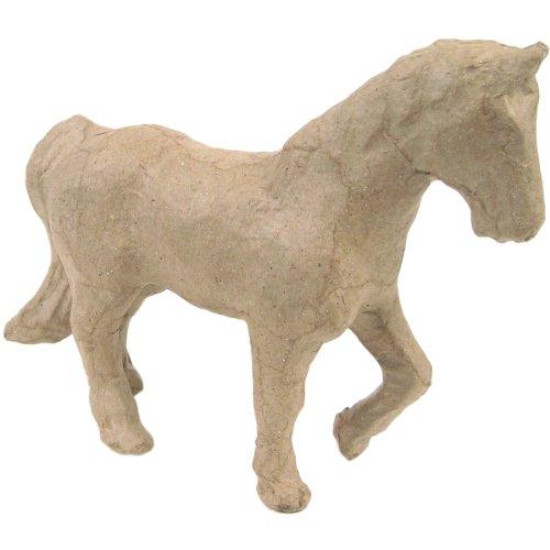 Pappmaché-Figur, Größe: ca. 12cm, Motiv: Pferd