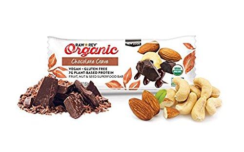 Raw Rev Organic Vegan, Gluten-Free Fruit, Nut, Seed Bars - Chocolate Crave 1.8 ounce (Pack of 144)