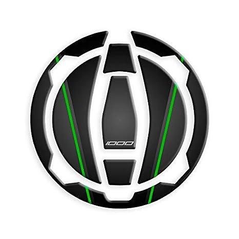 PROTEZIONE TAPPO BENZINA KAWASAKI VERSYS 1000 2019 GP-594 Black Green
