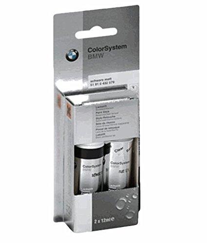 BMW lot de 2 stylos-retouche zweischicht b38 gris-midnight blue