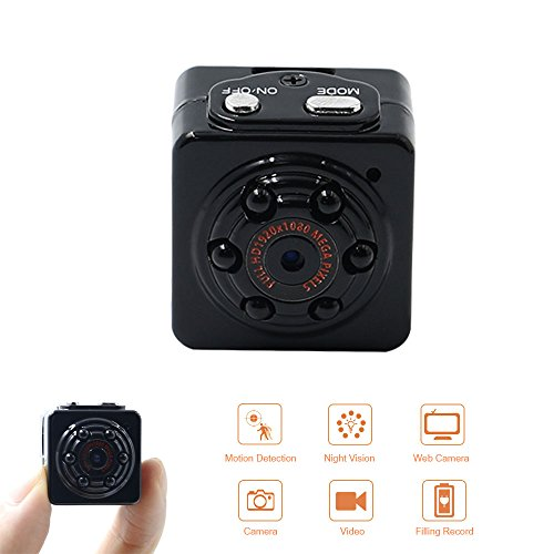 Mini Spy Camera Hidden Micro Cam Portable Security Camera 1080P HD TANGMI Pocket Motion Detection Video Surveillance Camcorder IR Night Vision Loop Recording for Car Home Office  ()