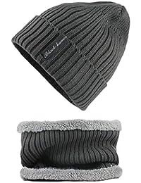865a91fdce3 Men Women Super Warm Slouchy Long Beanie Warm Fleece Lined Winter Knit Hat  Thick Skull Cap