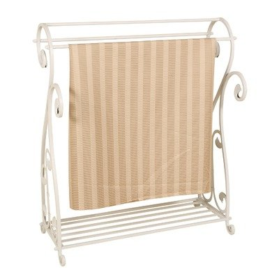 Blanket/Quilt Rack in Whitewash (Passport Accent Furniture)