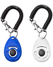 Txibi 2Pack Pet Dog Training Clicker with Wrist Strap - Durable Lightweight Easy to Use Pet Clickers for Cats Puppy Birds Horses