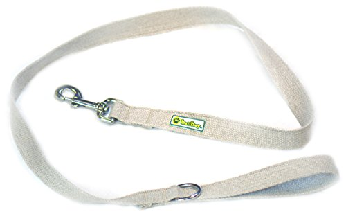 BallBoy The Natural Leash Hemp Webbing Dog Leash, Large/1-Inch by 6-Feet (Dog Hemp Leash)