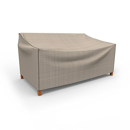 Classic Patio Glider (Budge English Garden Outdoor Patio Sofa Cover, Medium (Tan Tweed))