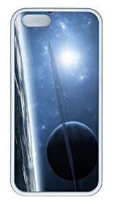 cheap cases Blue Planet Art TPU White Case for iphone 5/5S