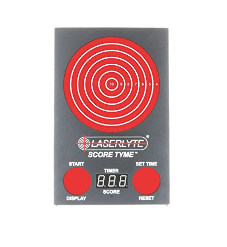 LaserLyte Trainer Target Score Tyme with Point of Impact Display, Timed Games and Bigger Target for Competition, Defensive Shooting and CCW