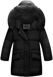 La Vogue Girls Winter Parka Down Coat Puffer Jacket Padded Overcoat