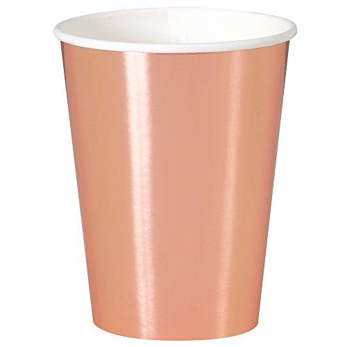 12oz Foil Rose Gold Paper Cups, ()