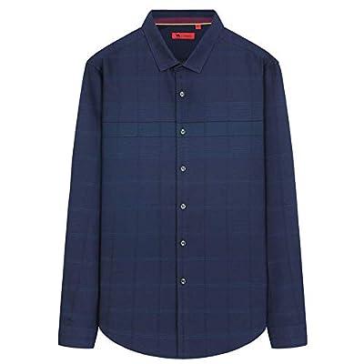 Camel Men's Casual Shirt Regular Fit Polo Long Sleeve Plaid Compressions Dress Shirt for Men