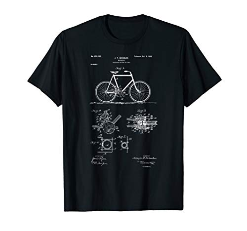 - Vintage Patent Print 1900 Bicycle Cycling T-Shirt