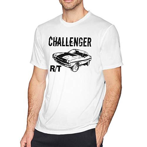 Newlt Mens Vintage 1970 Dodge Challenger RT T Shirts M White