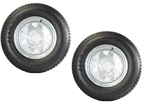 2-Pack Trailer Tire On Rim ST205/75D15 205/75 15 in. LRC 5 Lug Galvanized