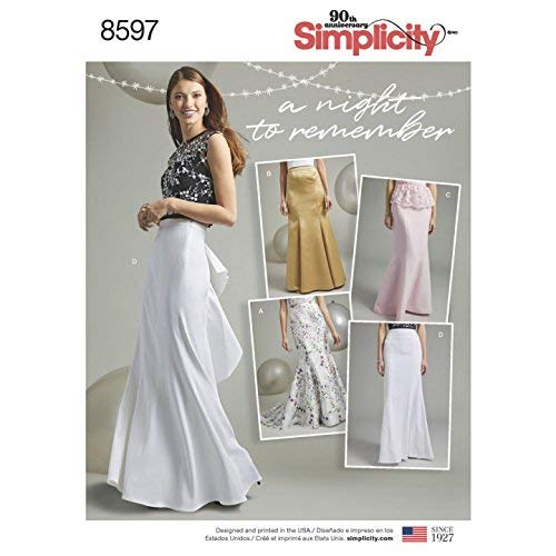 SIMPLICITY S8597 / D0862 SPECIAL OCCASION SKIRT SEWING PATTERN SIZE -