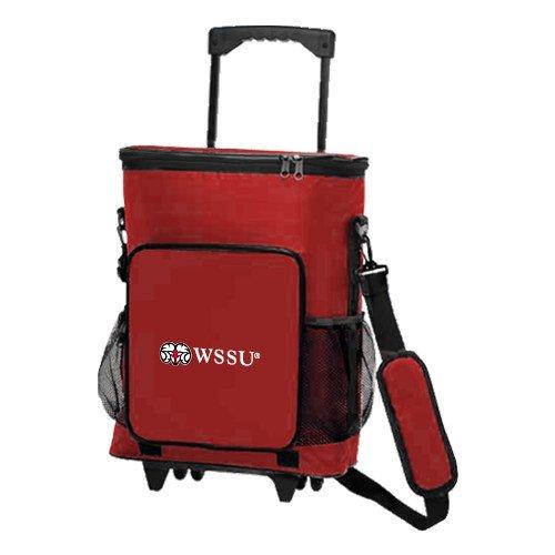Winston Salem 30 Can Red Rolling Cooler Bag 'Ram WSSU' by CollegeFanGear