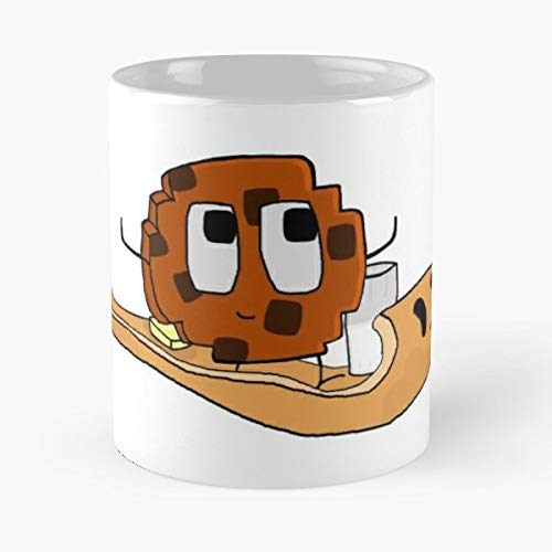 Cookie Riding Flying Pancake With Glass Of Milk Arms Minecraft - 11 Oz Coffee Mugs Unique Ceramic Novelty Cup, The Best Gift For Holidays.