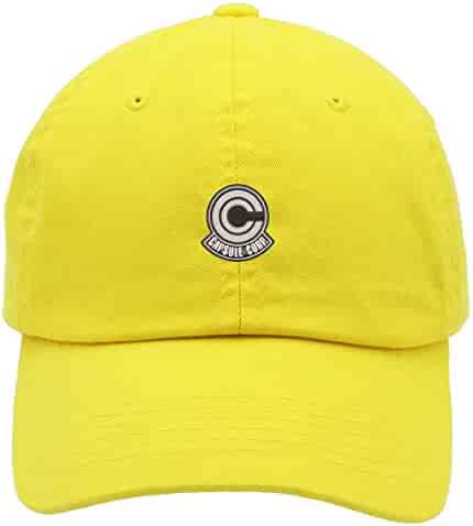 d4664cf2 TOP LEVEL APPAREL Dragonball Capsule Corp Low Profile Low Profile  Embroidered Dad Hat